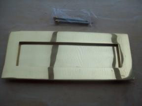 Replica brass Victorian letter box