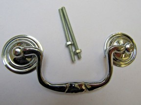 Small Swan Neck Pull Handle Polished Chrome