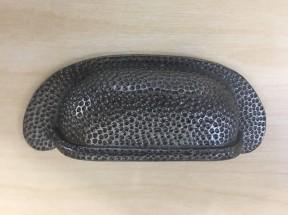 Beaten Effect Rear Fix Cabinet Pull Handle Antique Iron