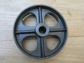 "Cast Iron Rustic 4.5"" Small Axle Wheel"