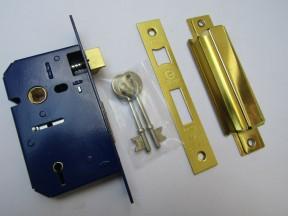 5 Lever Sashlock Polished Brass