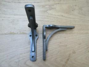 "Pair of Industrial Gallows Shelf bracket Antique Iron 6"""