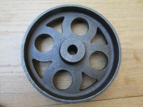 "Cast Iron Rustic 6"" Large Axle Wheel"