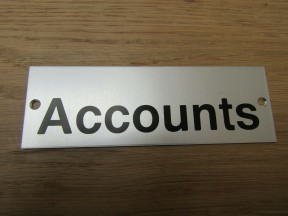 Rectangular Satin Aluminium Accounts Door Sign
