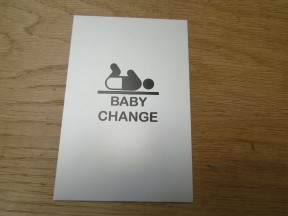 "6"" Satin Aluminium Baby Change Door Sign"