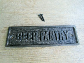 Beer Pantry Cast Iron Plaque