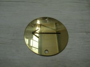 Circle Brass Direction Arrow Door Sign