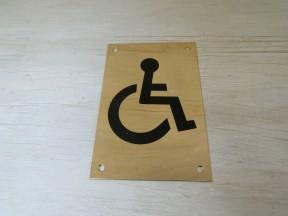 "6"" Brass Disabled Door Sign"
