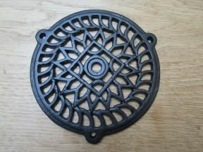 """6"""" Circle Round Cover Black Antique"""