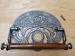 Cast Iron Crown Kitchen Roll Holder