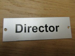 Rectangular Satin Aluminium Director Door Sign