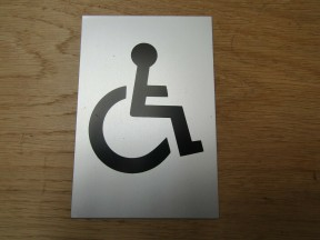 "6"" Satin Aluminium Disabled Door Sign"