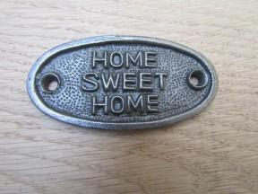 Cast Iron Home Sweet Home Plaque