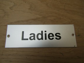 Rectangular Satin Aluminium Ladies Door Sign
