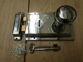 "6"" Rim Lock Chrome & Victorian Rim Polished Chrome Set"