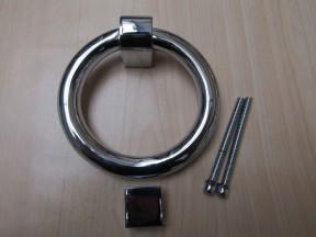 Modern Ring Door Knocker Polished Chrome