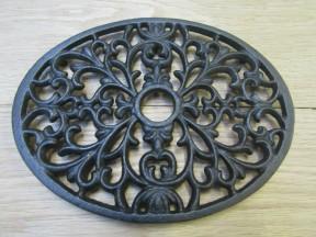 Cast Iron Oval Decorative Trivet