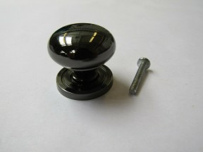 Round Cabinet Knob Black Nickel