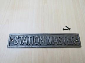 Cast Iron Station Master Plaque