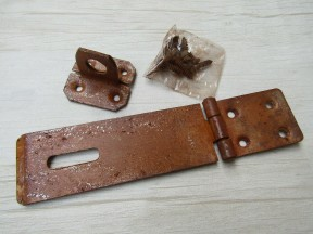 "Hasp And Staple 4.5"" Steel Rust"
