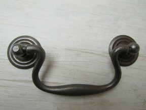 Large Swan Neck Pull Handle Antique Iron