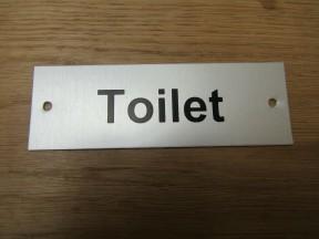 Rectangular Satin Aluminium Toilet Door Sign