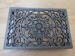 Cast Iron Ornate Rectangular Trivet