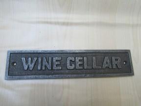 Cast Iron Wine Cellar Plaque