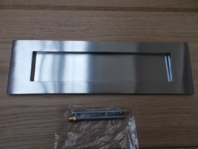 "10 x 3"" Plain Letter Plate Satin Chrome"