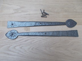 "Pair of Hinge fronts Antique Iron 16"" Arrow Head"
