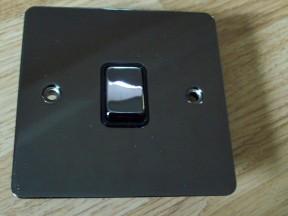 Black Nickel Switch Plate 1 gang 1 way light switch