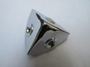 Pack Of 10 Small 28mm Round Chest Corners Polished Chrome