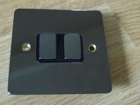 Black Nickel Switch Plate 2 gang 2 way light switch