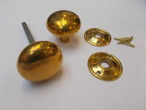 Rim Knob set Cottage Antique Brass