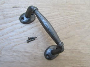 "5"" Offset Cabinet Pull Handle Antique Iron"