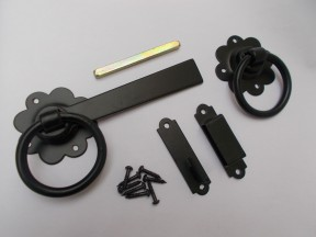 "Ring Latch 6"" Black Steel"