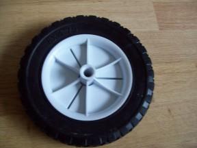 "Black Tyre Cart Wheel 8"""