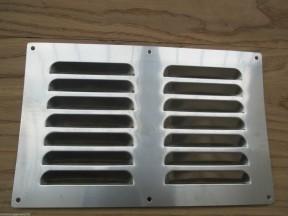 "9"" x 6"" Steel Air Vent Brushed Steel"