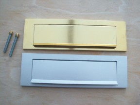 Aluminium letter box plates