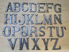 "3"" Antique Iron Letter N"