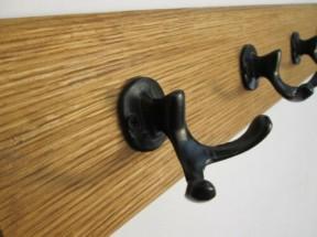 Black Antique Small Antler 5 Hook Coat Rail 58cm