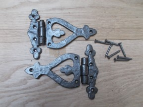Pair of Arrow Head Fancy Butt Hinge antique iron