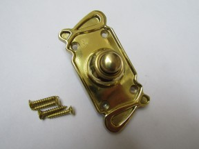 Art Nouveau Bell Push Polished Brass