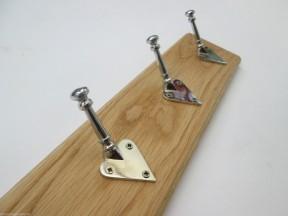 Chrome Arts & Crafts 10 Hook Coat Rail 108cm
