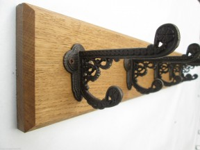 Antique Iron Basildon Coat Hook Rail