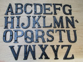 "3"" Black Antique Letter V"