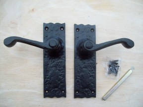 Black antique door handles