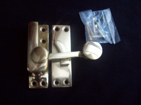 Brass sash window fastener