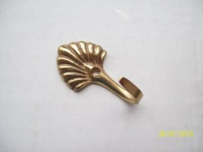 Brass Shell Curtain Tie Back Hook