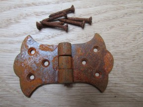 Pair of Butterfly Butt hinge Rustic